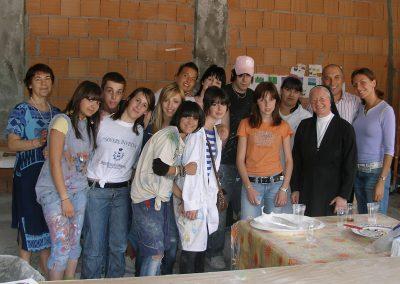 Moira Maffeis e studenti